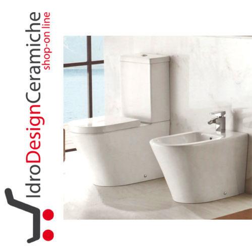 Sanitari a terra con wc monoblocco Serie Oasy - IdroDesignCeramiche ...