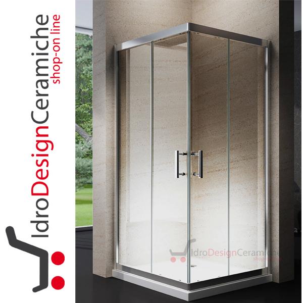 Box doccia quadro in cristallo da 6mm 195h design for Accessori box doccia