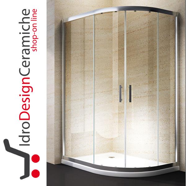 Box Doccia Semicircolare 70x90.Box Doccia Curvo 70x90 Cristallo 6mm Con Piatto In Acrilico