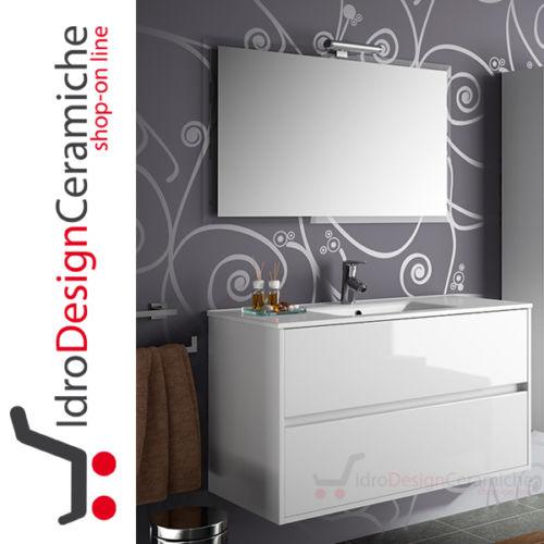 Mobile bagno moderno cm. 100 - IdroDesignCeramiche - Vendita on-line ...