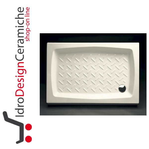 Piatto doccia rettangolare in ceramica antiscivolo h 11 cm for Accessori box doccia