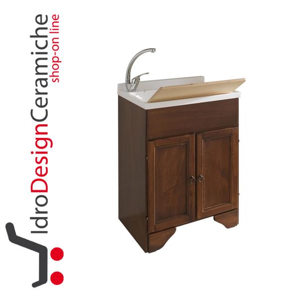 Pilozza Ceramica Con Mobile.Mobile Lavatoio In Arte Povera Con Pilozza 60x50 Cm