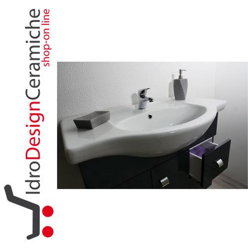 Mobile bagno sospeso 80 cm - Mod. Luna - IdroDesignCeramiche ...