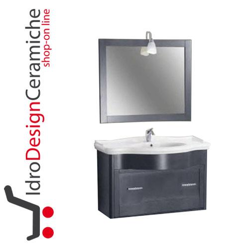 Mobile bagno sospeso 112 cm Swarovski - IdroDesignCeramiche ...
