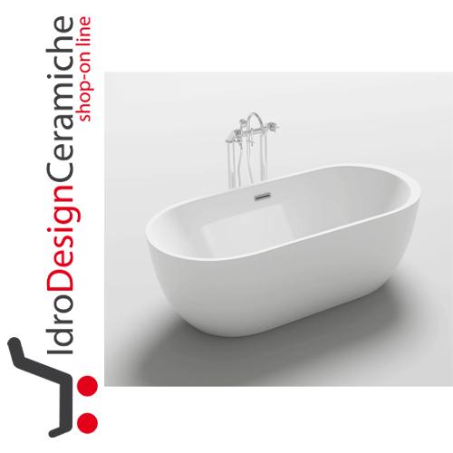 Vasca da bagno moderna in acrilico 170x80x58h mod one idrodesignceramiche vendita on line - Vasca da bagno moderna ...