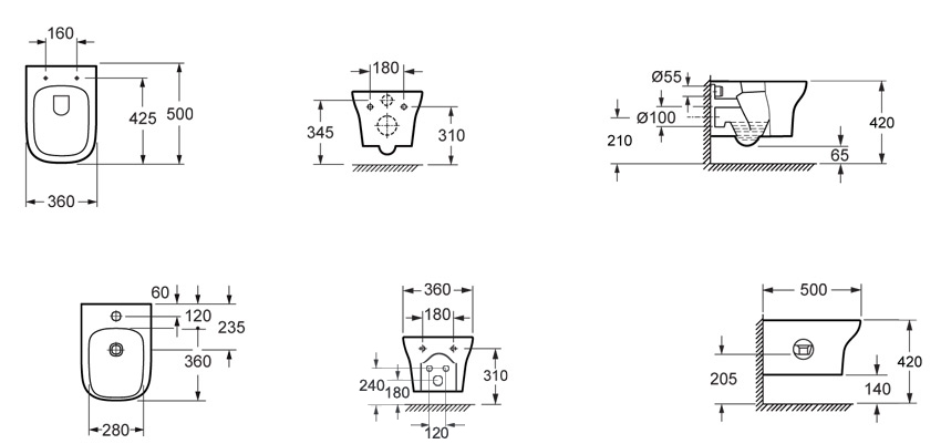 Sanitari sospesi serie flow idrodesignceramiche for Dimensioni water