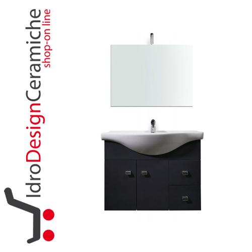 Mobile bagno sospeso 80 cm mod luna idrodesignceramiche vendita on line sanitari box - Mobile bagno 80 cm ...