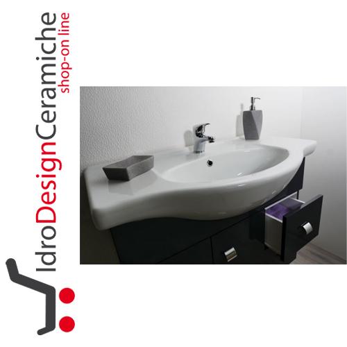 Mobile bagno sospeso 80 cm mod luna for Mobili bagno 80 cm