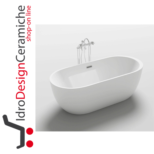 Vasca da bagno moderna in acrilico 170x80x58h - Mod. One