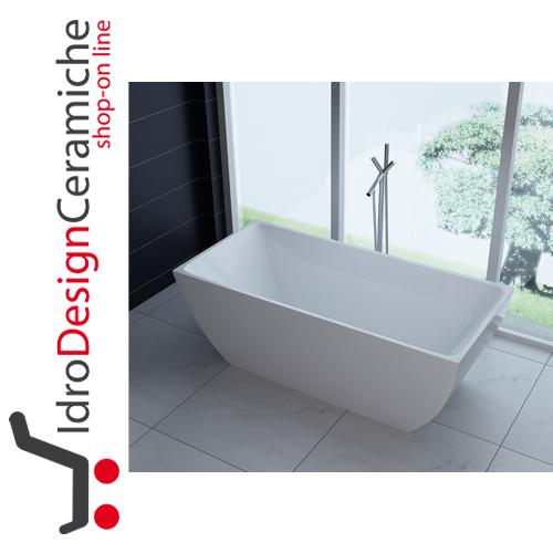 Vasca da bagno moderna in acrilico 170x80x58h - Mod. Unika ...
