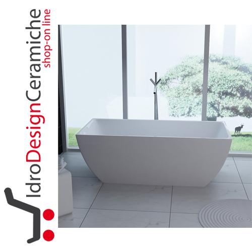 Vasca da bagno moderna in acrilico 170x80x58h - Mod. Unika